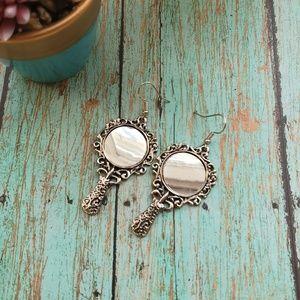 Gorgeous Unique Mirror metallic earrings